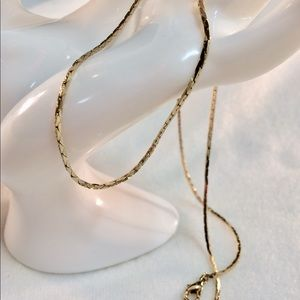 "Jewelry - 14K gold plated herringbone necklace 18"" / n78"
